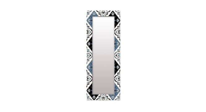 Devana Wall Mirror (Black, Tall Configuration, Rectangle Mirror Shape) by Urban Ladder - Front View Design 1 - 385603
