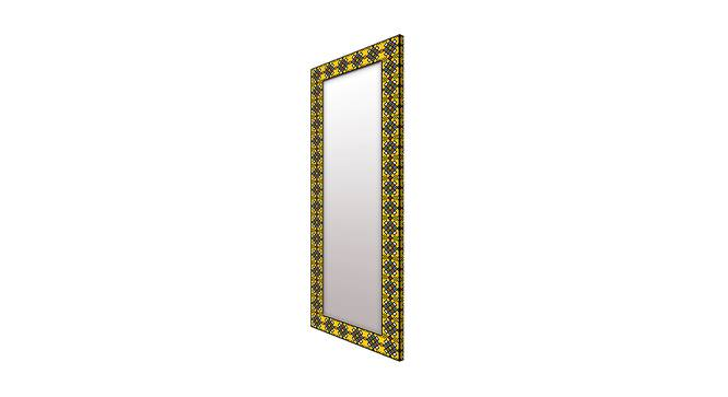 Dianthe Wall Mirror (Yellow, Tall Configuration, Rectangle Mirror Shape) by Urban Ladder - Cross View Design 1 - 385605