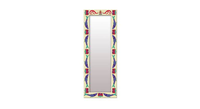 Flo Wall Mirror (Navy Blue, Tall Configuration, Rectangle Mirror Shape) by Urban Ladder - Front View Design 1 - 385672