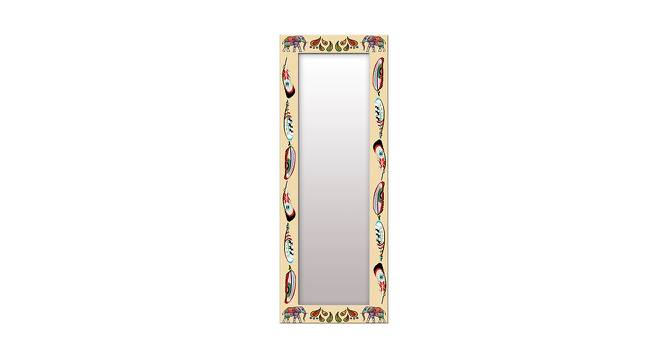 Iolanda Wall Mirror (Brown, Tall Configuration, Rectangle Mirror Shape) by Urban Ladder - Front View Design 1 - 385673