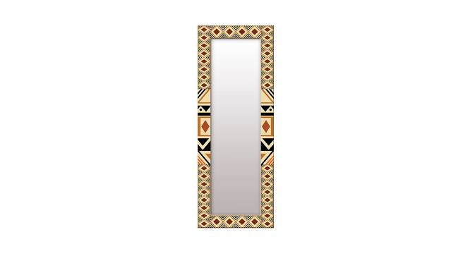 Floretta Wall Mirror (Brown, Tall Configuration, Rectangle Mirror Shape) by Urban Ladder - Front View Design 1 - 385674