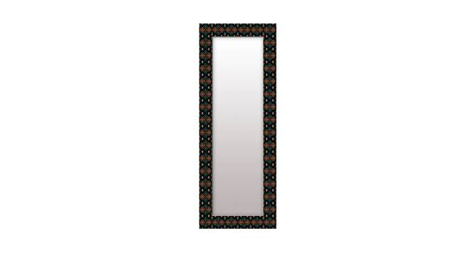 Jasma Wall Mirror (Black, Tall Configuration, Rectangle Mirror Shape) by Urban Ladder - Front View Design 1 - 385675