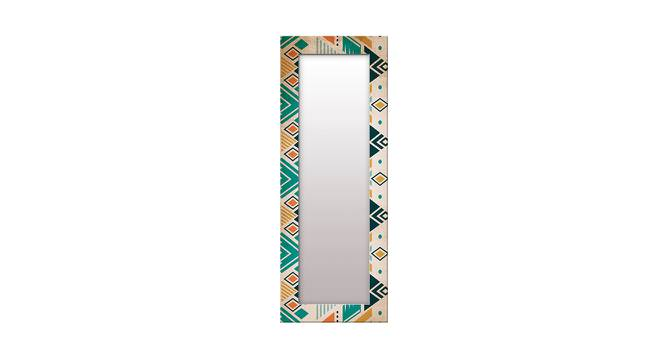 Irit Wall Mirror (Brown, Tall Configuration, Rectangle Mirror Shape) by Urban Ladder - Front View Design 1 - 385676