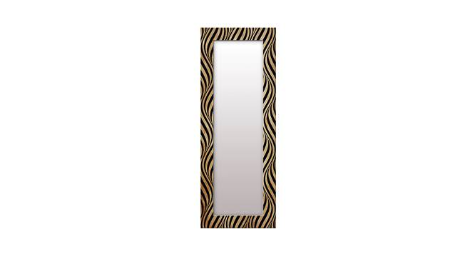 Hodges Wall Mirror (Gold, Tall Configuration, Rectangle Mirror Shape) by Urban Ladder - Front View Design 1 - 385678