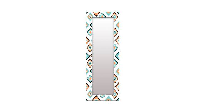 Jaryl Wall Mirror (White, Tall Configuration, Rectangle Mirror Shape) by Urban Ladder - Front View Design 1 - 385679