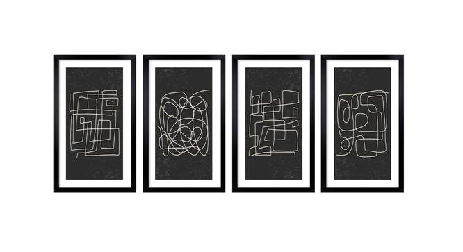Kayson Wall Art (Black) by Urban Ladder - Front View Design 1 - 385720