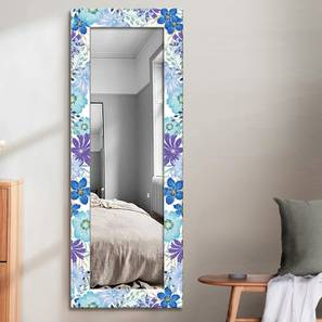 Kimba Wall Mirror (Blue, Tall Configuration, Rectangle Mirror Shape) by Urban Ladder - Front View Design 1 - 385773