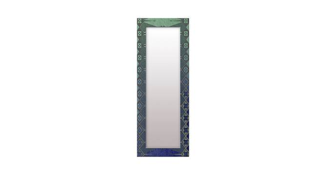 Lilac Wall Mirror (Teal, Tall Configuration, Rectangle Mirror Shape) by Urban Ladder - Front View Design 1 - 385767