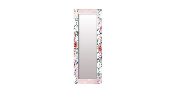 Kanesha Wall Mirror (Red, Tall Configuration, Rectangle Mirror Shape) by Urban Ladder - Front View Design 1 - 385769