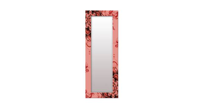 Jennilee Wall Mirror (Red, Tall Configuration, Rectangle Mirror Shape) by Urban Ladder - Front View Design 1 - 385771