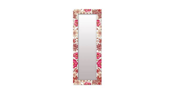 Jerre Wall Mirror (Red, Tall Configuration, Rectangle Mirror Shape) by Urban Ladder - Front View Design 1 - 385772