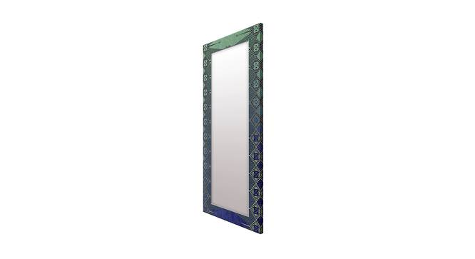 Lilac Wall Mirror (Teal, Tall Configuration, Rectangle Mirror Shape) by Urban Ladder - Cross View Design 1 - 385777
