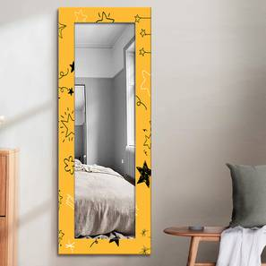 Nurit Wall Mirror (Yellow, Tall Configuration, Rectangle Mirror Shape) by Urban Ladder - Front View Design 1 - 385864