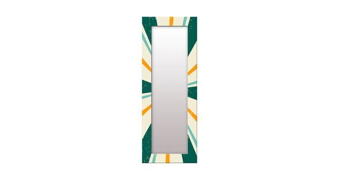 Lindo Wall Mirror (Green, Tall Configuration, Rectangle Mirror Shape) by Urban Ladder - Front View Design 1 - 385855