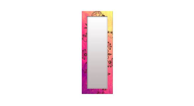 Lorrae Wall Mirror (Pink, Tall Configuration, Rectangle Mirror Shape) by Urban Ladder - Front View Design 1 - 385857