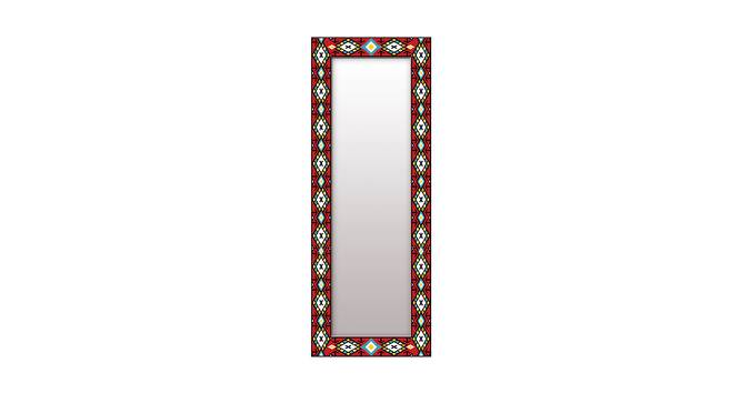 Livy Wall Mirror (Red, Tall Configuration, Rectangle Mirror Shape) by Urban Ladder - Front View Design 1 - 385858