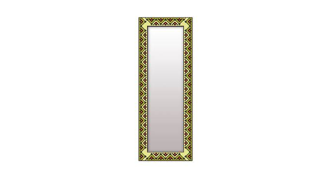 Orna Wall Mirror (Green, Tall Configuration, Rectangle Mirror Shape) by Urban Ladder - Front View Design 1 - 385859