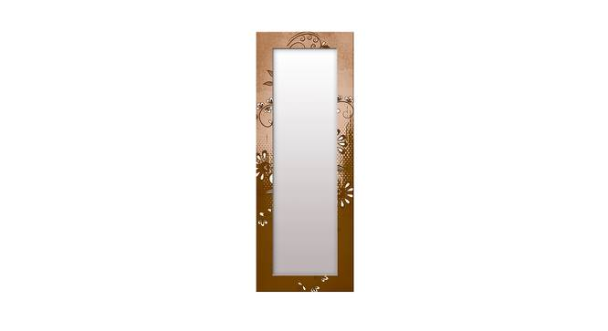 Lurline Wall Mirror (Brown, Tall Configuration, Rectangle Mirror Shape) by Urban Ladder - Front View Design 1 - 385863
