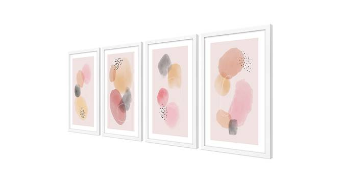 Smith Wall Art (Pink) by Urban Ladder - Cross View Design 1 - 385927