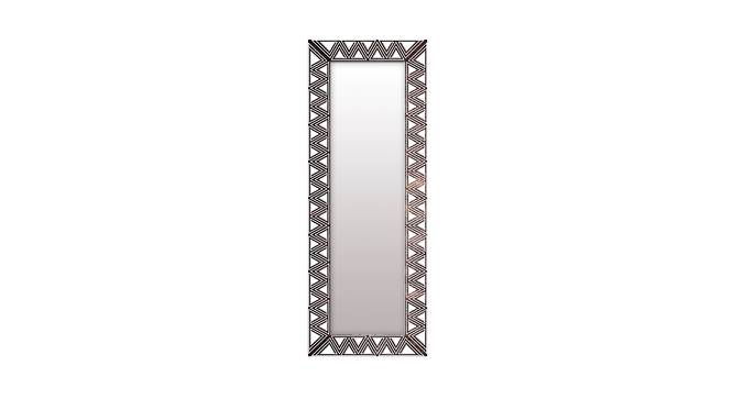 Sewell Wall Mirror (Black, Tall Configuration, Rectangle Mirror Shape) by Urban Ladder - Front View Design 1 - 385966