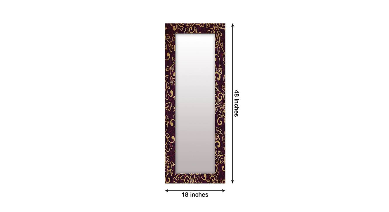 Shaunice wall mirror brown 6
