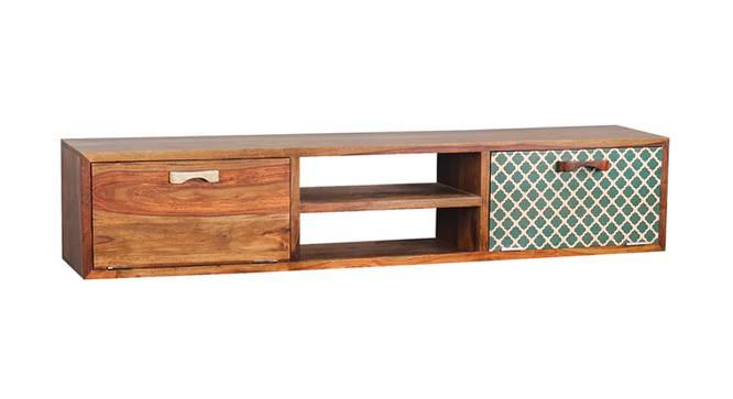 Catnip Emerald TV Unit (Satin Finish, Paintco Teak & Hand Painting) by Urban Ladder - Cross View Design 1 - 386362