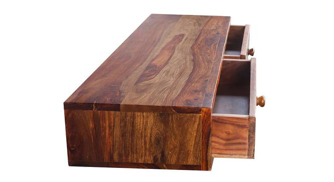 Amy Floating Study Table (Satin Finish, Paintco Teak & Hand Painting) by Urban Ladder - Front View Design 1 - 386381