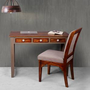 Hank study table with chair large vintage grey and paintco teak lp