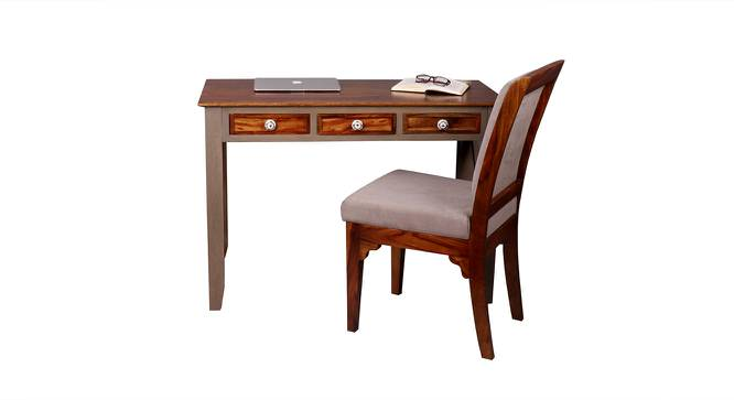 Hank Study Table with Chair (Satin Finish, Vintage Grey & Paintco Teak) by Urban Ladder - Cross View Design 1 - 386443