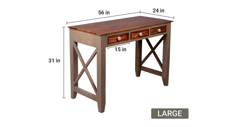 Hank study table large vintage grey and paintco teak 6