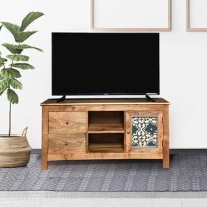 Kolam tv unit paintco teak and hand painting lp