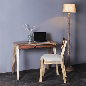 Remy study table with chair paintco teak and light walnut lp