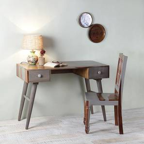 Raoul study table with chair vintage grey and paintco teak lp