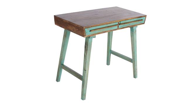 Philibert Study Table with Chair (Satin Finish, Paintco Teak & Vintage Green) by Urban Ladder - Cross View Design 1 - 386533