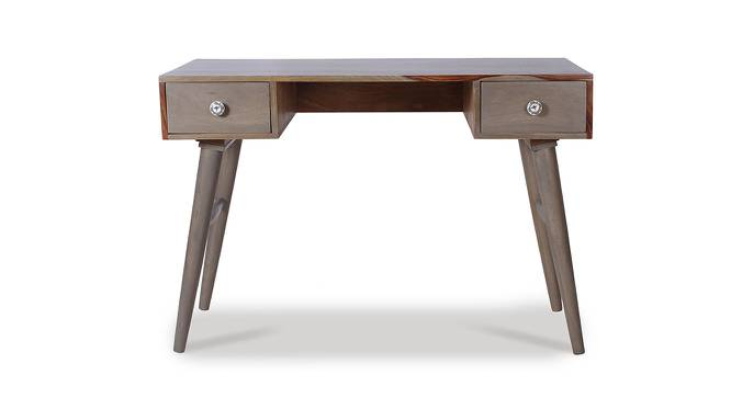 Raoul Study Table (Satin Finish, Vintage Grey & Paintco Teak) by Urban Ladder - Cross View Design 1 - 386534