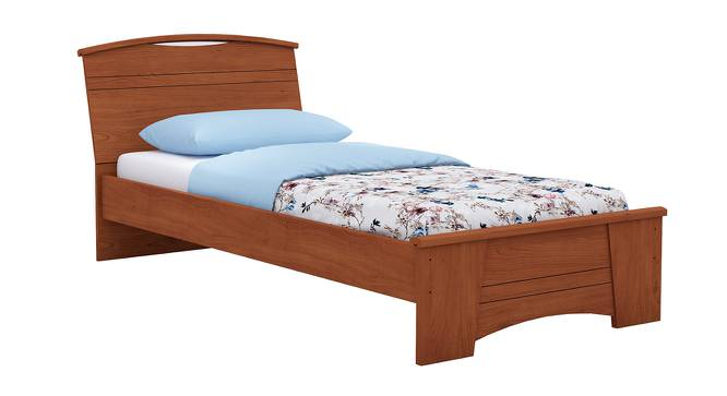 Estilo Bed (Single Bed Size, Foil Lam Finish, Siena Cherry) by Urban Ladder - Front View Design 1 - 387276