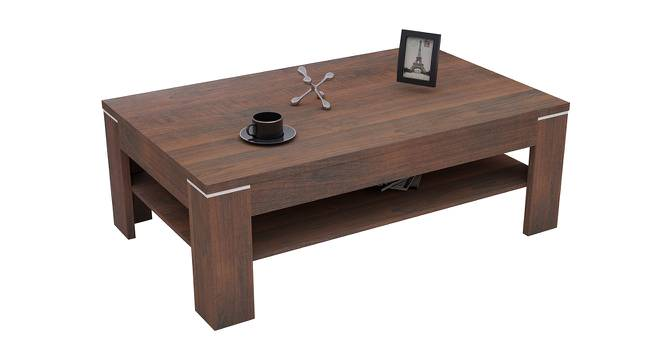 Barion Coffee Table (Foil Lam Finish, Teak Walnut) by Urban Ladder - Front View Design 1 - 387284