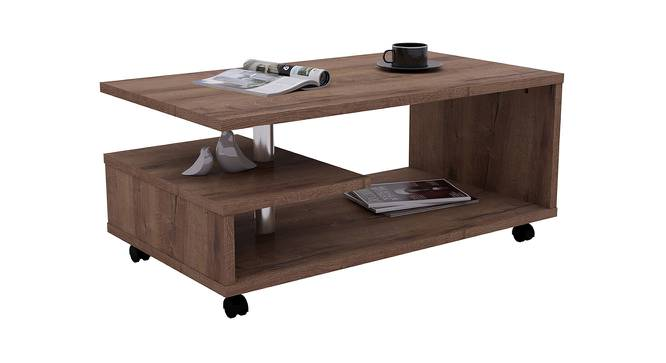 Bailey Coffee Table (Foil Lam Finish, Mud Oak) by Urban Ladder - Front View Design 1 - 387286