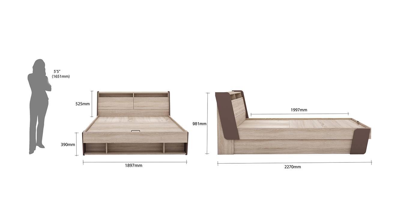Flow hydraulic storage bed king 6