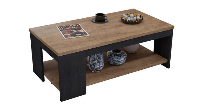 Pearl Coffee Table (Foil Lam Finish, Bronze Agedwood & Black Oak) by Urban Ladder - Front View Design 1 - 387470