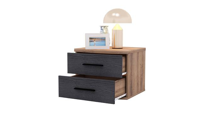 Rondino Bedside Table (Mud Oak & Imperial Teak) by Urban Ladder - Front View Design 1 - 387542