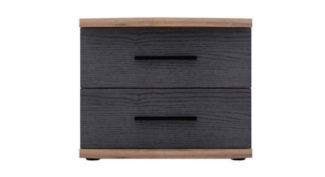 Rondino Bedside Table (Mud Oak & Imperial Teak) by Urban Ladder - Cross View Design 1 - 387550