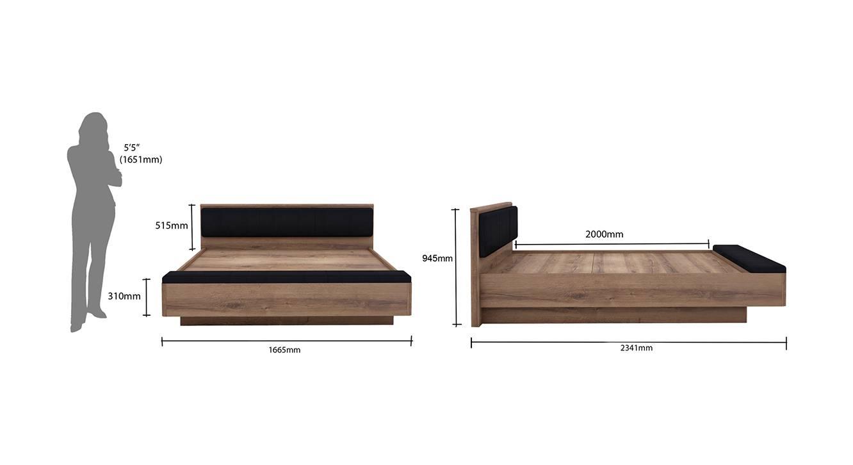 Rondino hydraulic storage bed queen 7