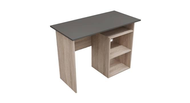 Yoop Study Table (Foil Lam Finish, Sonomo Oak & Charcoal) by Urban Ladder - Cross View Design 1 - 387709