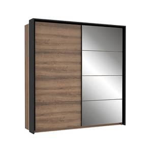 Jacky Wardrobe (Foil Lam Finish, Mud Oak & Black Oak) by Urban Ladder - Front View Design 1 - 387774