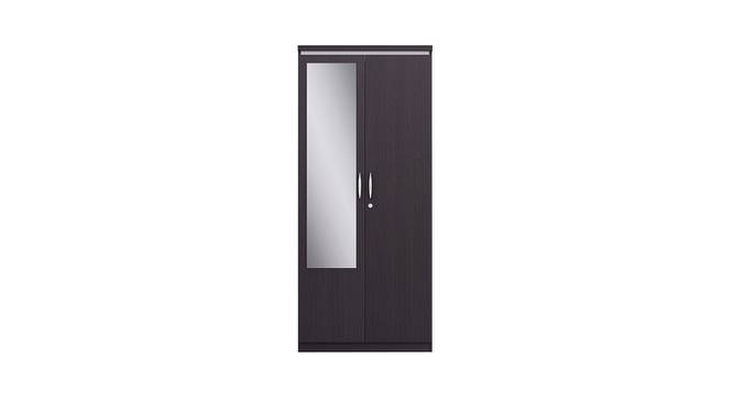 Neo Wardrobe (Foil Lam Finish, Imperial Teak) by Urban Ladder - Front View Design 1 - 387764