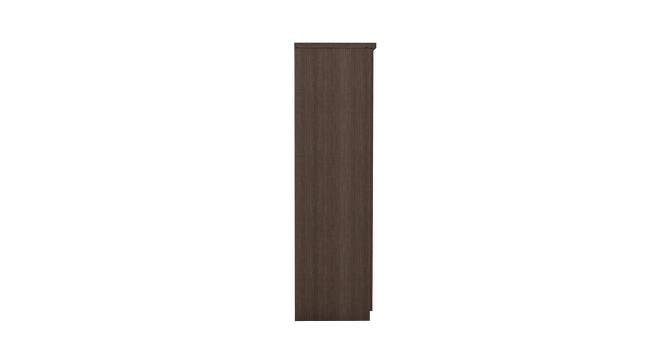 Swann Wardrobe (Foil Lam Finish, Chocolate Sawline & White) by Urban Ladder - Cross View Design 1 - 387786