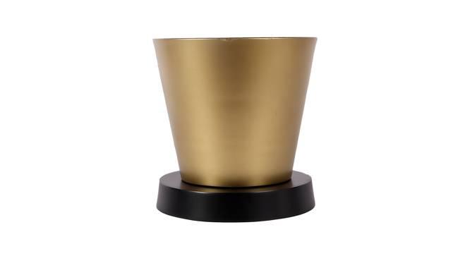 Everette Planter (Black & Gold) by Urban Ladder - Front View Design 1 - 387893