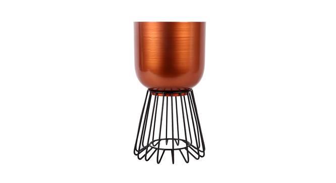 Kendal Planter (Copper & Matt Black) by Urban Ladder - Front View Design 1 - 387896