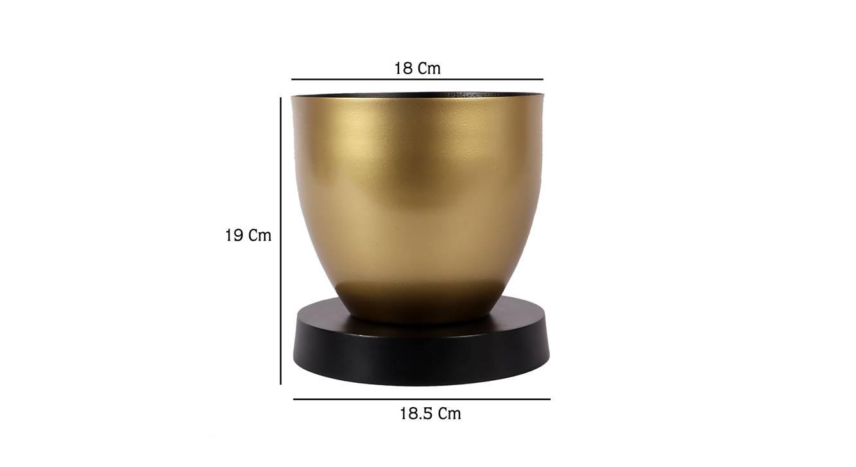 Edmund planter black and gold 6